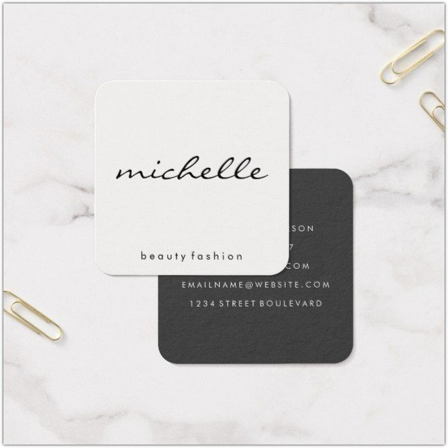 Text Square Business Card