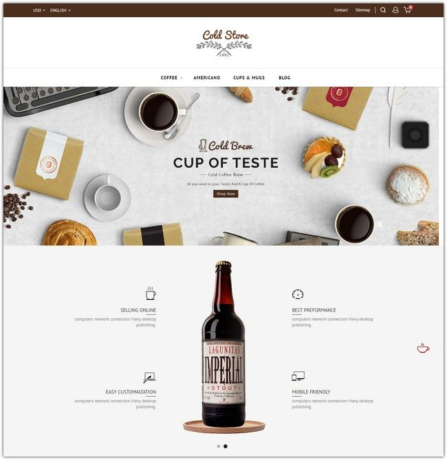 The Coffee Shop Template