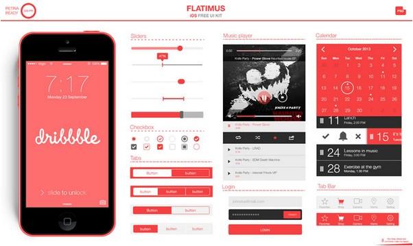 The Flatimus iOS UI Kit