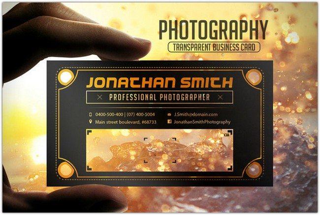 Transparent Card PSD template