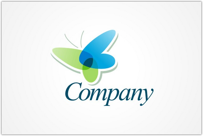 Transparent Butterfly Logo