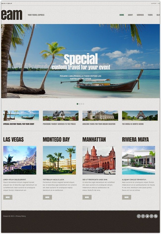Travel Agency Responsive WordPress Theme monster