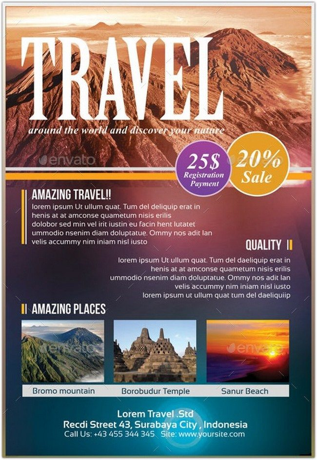 20 Best Travel Tourism Flyer Templates 2018 Templatefor