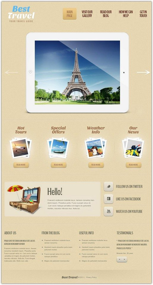 Travel Guide Responsive WP Theme