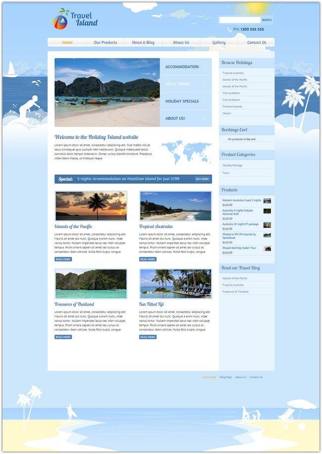 Travel Island - Responsive JigoShop e-Commerce WordPress Theme