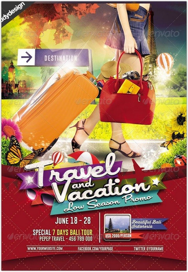 Travel Tour and Vacation Flyer