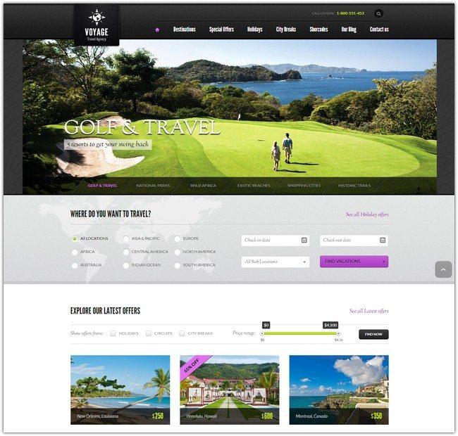 Travel WordPress Theme VOYAGE
