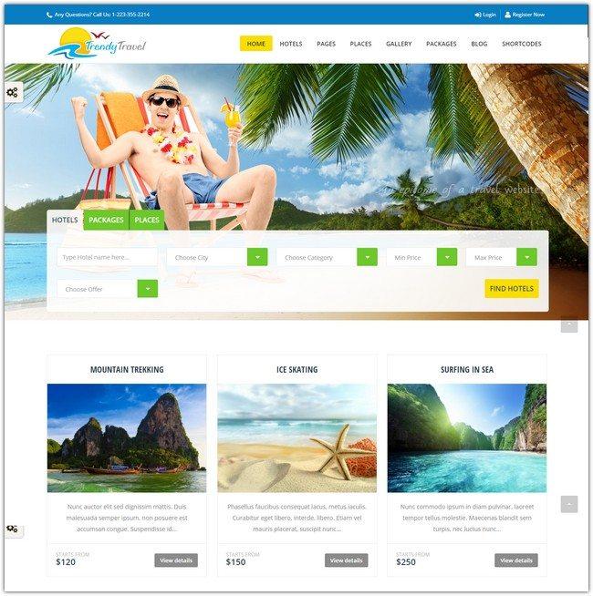 Trendy Travel- Multipurpose Tour Package WP Theme
