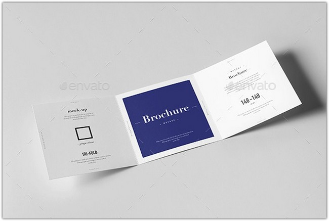 Tri-Fold Square Brochure Mock-up