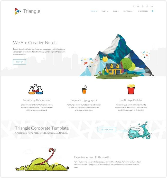 Triangle - Free Responsive Multipurpose Template