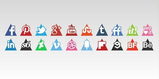Triangles Icons Set