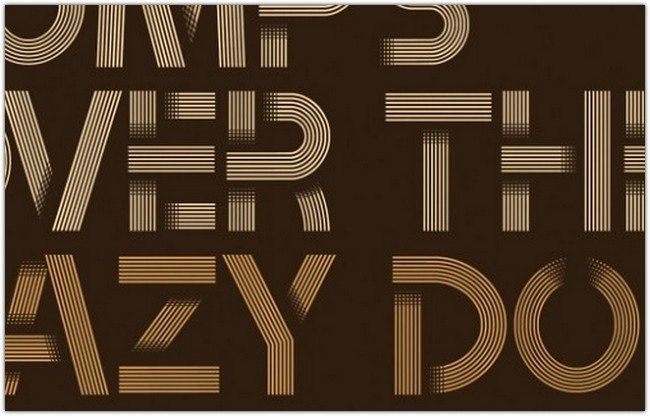tribbon-layered-font