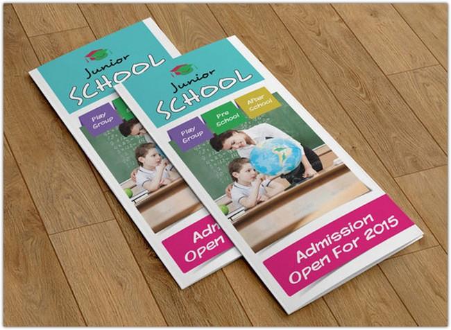 Trifold brochure for School-V72