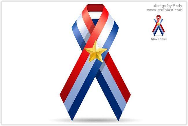 U.S.A ribbon