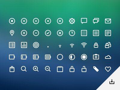 UI icons (PSD)