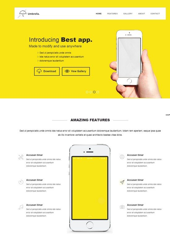 Umbrella a Mobile Bootstrap Responsive web template