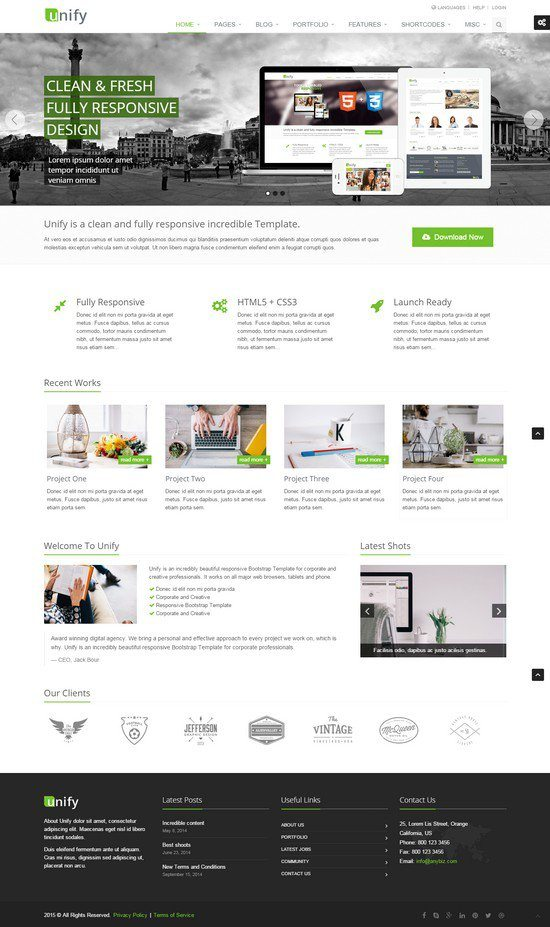 Unify-Responsive-Website-Template