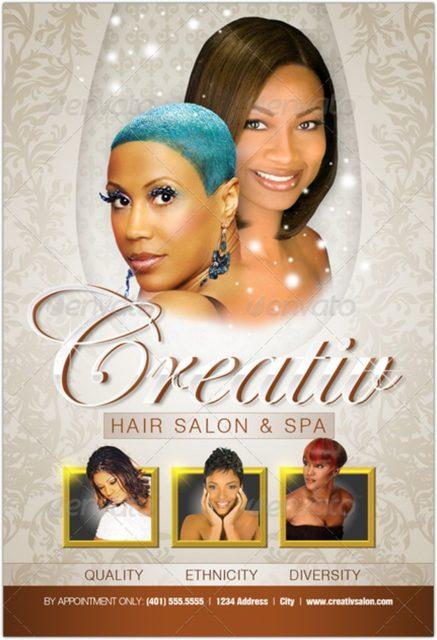 Upscale Salon Flyer & Business Card Templates