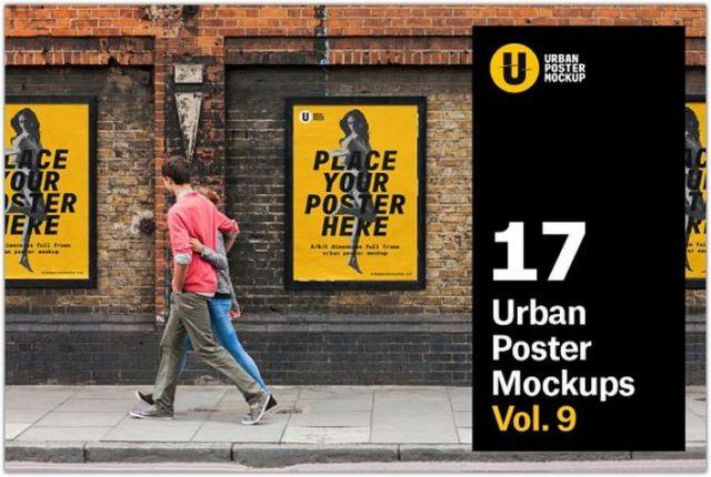 Urban Poster Mock-up VOL.9