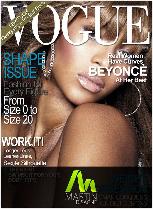 VOUGE magazine cover PSD
