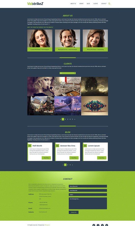 ValstrikeZ a Corporate portfolio Flat Bootstrap Responsive web template