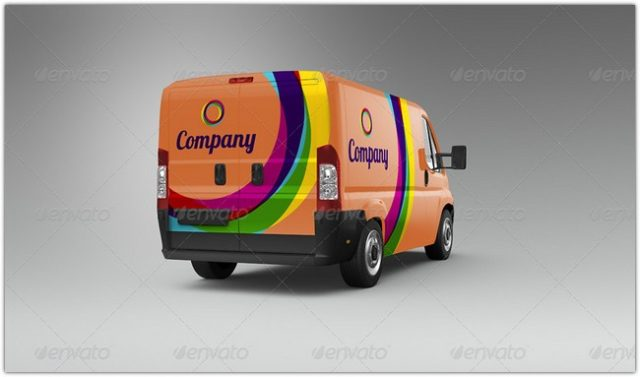 van-car-mock-up
