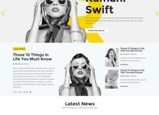 HTML5 Magazine Template