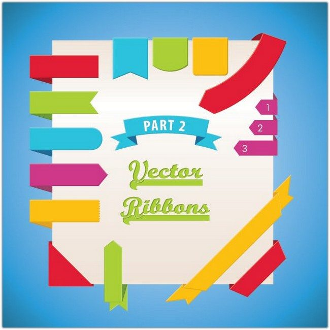 Vector Ribbons Part 2 Vector Graphic