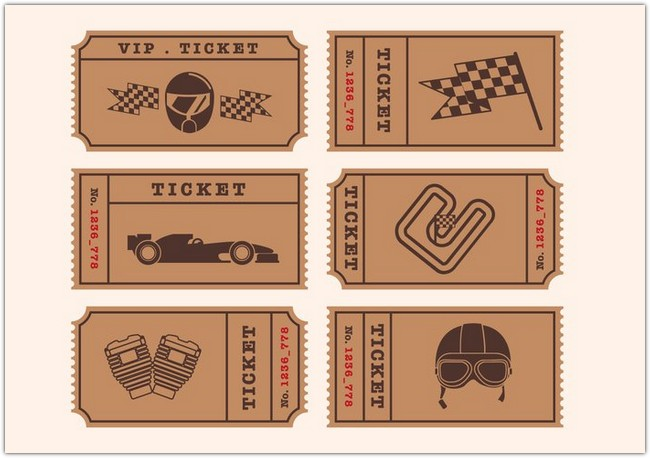 Vintage Vector Ticket