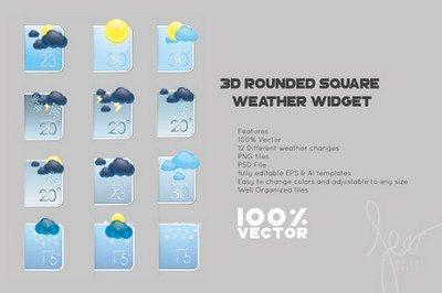 Vector Weather Widget Template