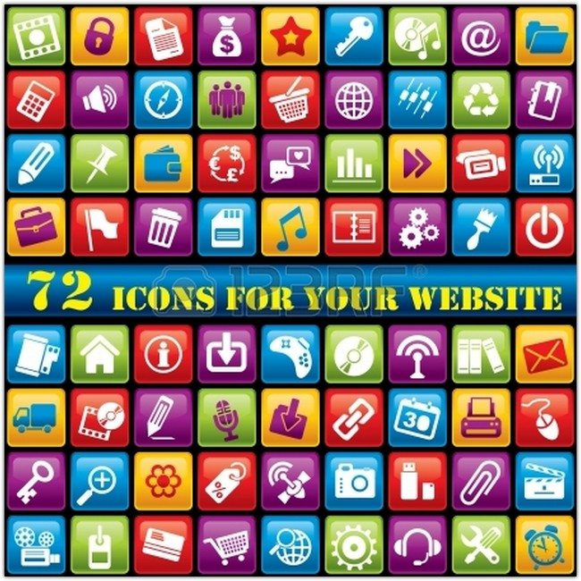 Vector - vector set of 72 computer icons for your website