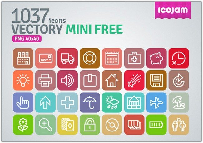 Vectory 1037 icons Mini Free