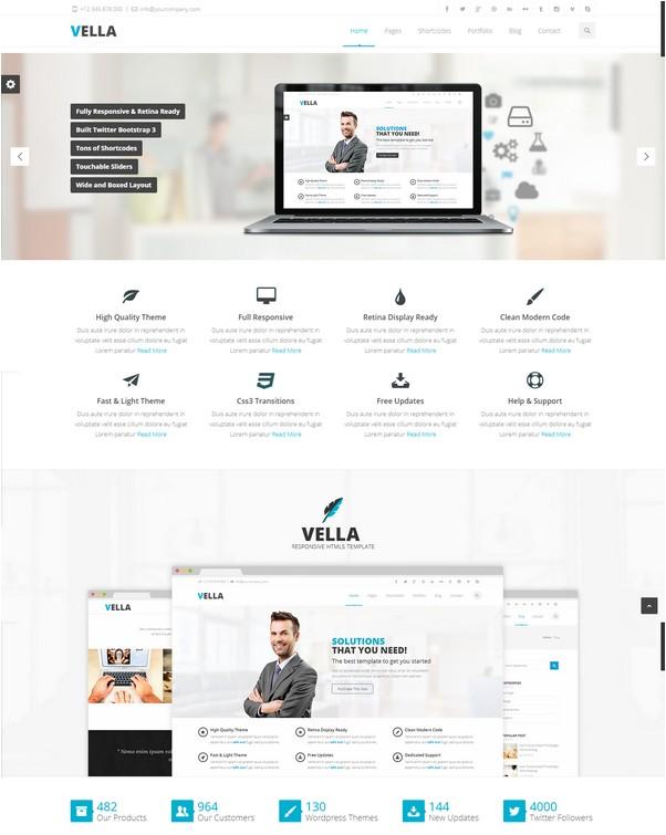 Vella - Premium Multipurpose Responsive Template