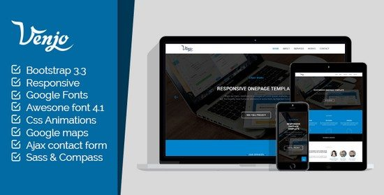 Venjo - Multipurpose HTML5 Theme