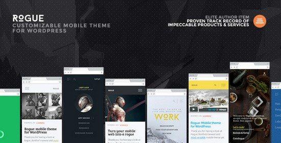 Vibrant: A Super Sharp WordPress Mobile Theme