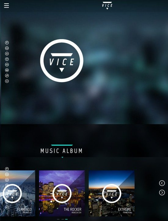 Vice: Music, Dj and Music Band WordPress Theme