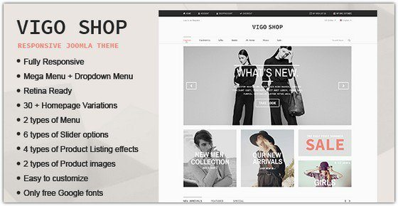 Vigo Shop – Responsive & Multipurpose Joomla Theme