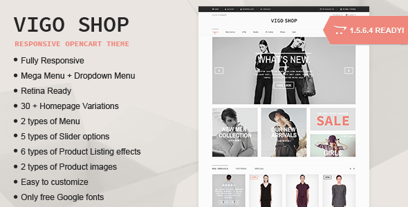 Vigo Shop - Responsive Multipurpose Opencart Theme