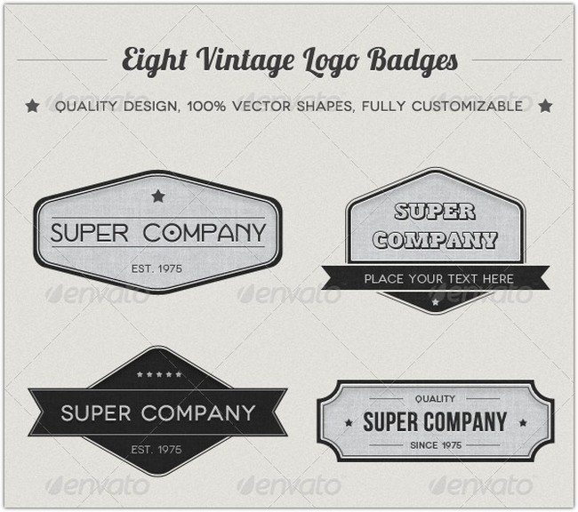 Vintage Logo Badges