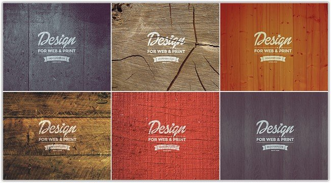 Vintage Logo Mockup on Wood