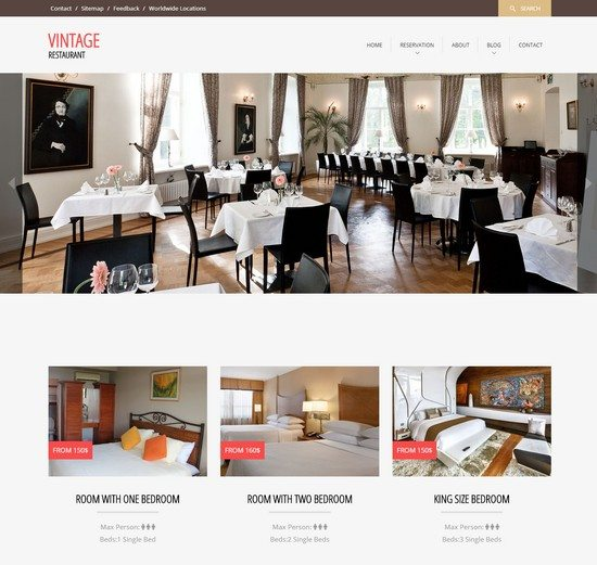 Vintage a Restaurant Flat Bootstrap Responsive web template
