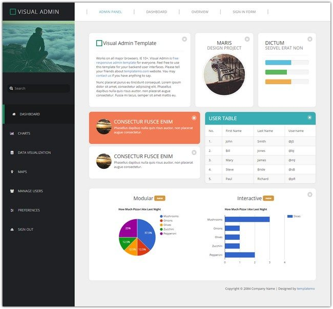 Visual Admin Template