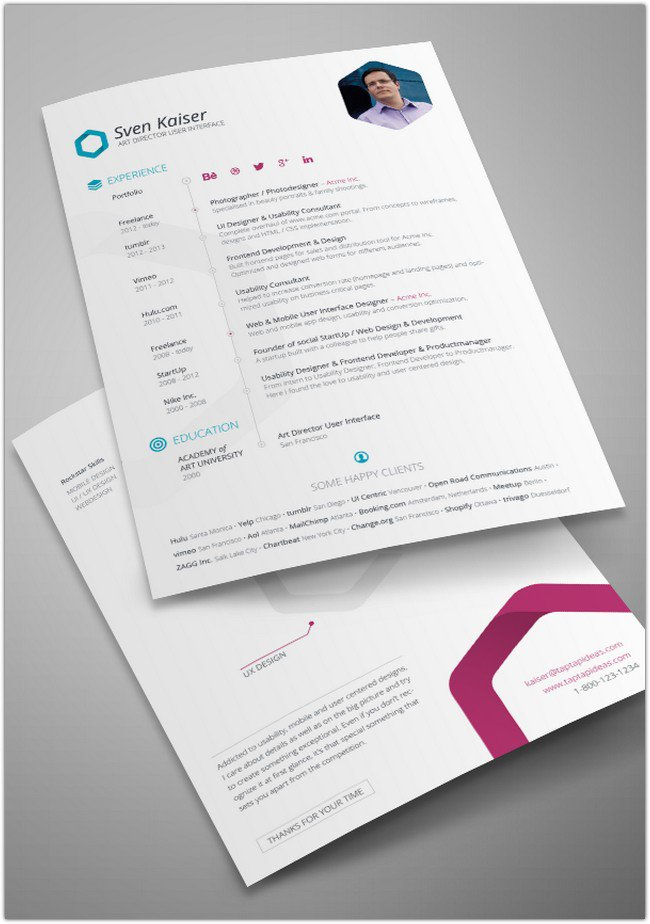 Vita Resume CV Template