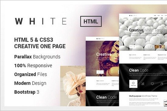 WHITE - Creative One Page Html Theme