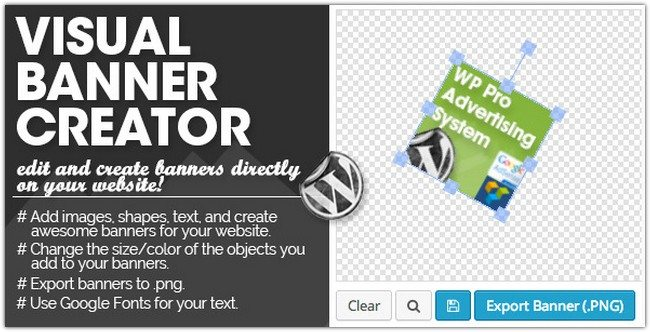 WP PRO Visual Banner Creator