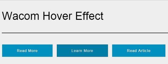 Wacom button hover effect