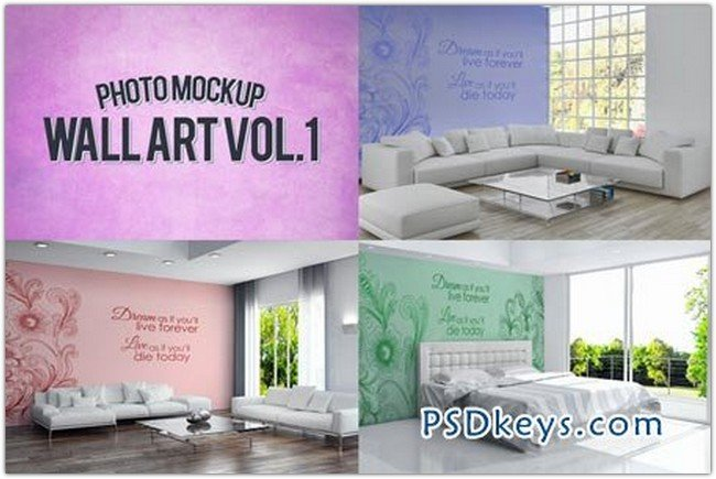 Wall Art Photo Mockups Volume 1