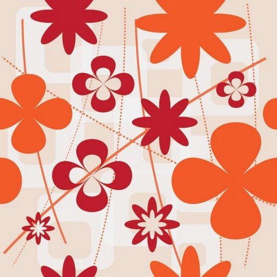 Wall Flowers Vector Graphic