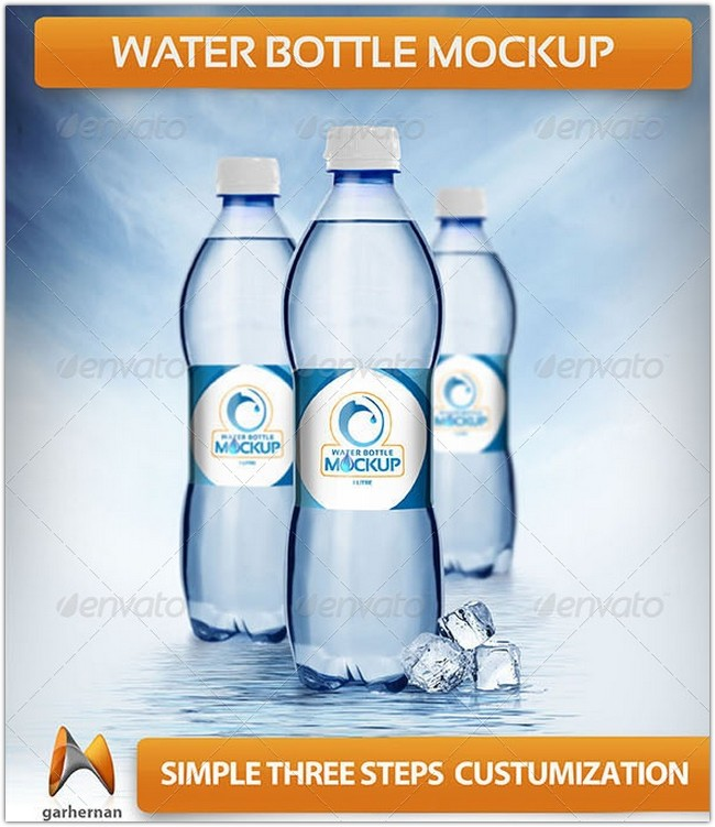 Water Bottle Mockup # 4
