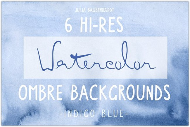 Watercolor Ombre Backgrounds (blue)